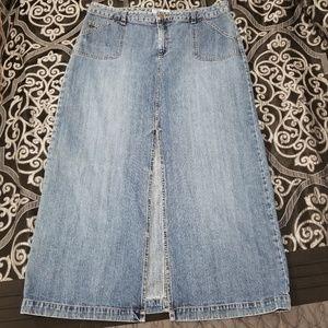 Old Navy Size 14 Denim Maxi Skirt